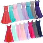 Flower Girl Dress Kids Pageant Formal Party Prom Wedding Junior Bridesmaid 4-14Y