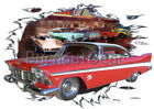 1957 Red Plymouth Belvedere Custom Hot Rod Diner T-Shirt 57 Muscle Car Tees $26.99 USD on eBay