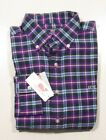 Vineyard Vines Men's L/S Spiced Plaid Verbena Purple Whale Shirt