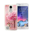 For LG Aristo 2 Liquid Glitter Quicksand Hard Case Phone Cover +Screen Protector