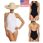 Womens Sexy Halterneck One Piece Bikini Swimsuit Padded Monokini Beach Swimwear