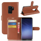 For Samsung Galaxy S9+ Plus Case PU Leather Flip Magnet Slots Wallet Pouch Cover