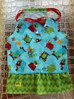 "PBK Dog PILLOWCASE DRESS ""MONSTER MASH 2"" Sz XS-S-M Handmade SUMMER Teal/Grn/Rd"