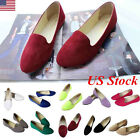 US Pregnant Womens Suede Boat Shoes Casual Slip On Flats Low Cutter Loafers