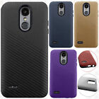 For LG Aristo 2 Shockproof Lines Hybrid Impact Dual Layered Case Accessory