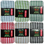 6 x PACK OF 100% COTTON  CHECK TERRY T TOWELS 48x68cms IN A CHOICE OF 6 COLOURS