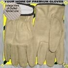S-M-L-XL-Winter Thermal Insulated Premium Drive Work Cowhide Wear Leather Glove