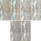 AS Creation Distressed Painted Wood Panel Pattern Wallpaper Faux Effect Textured