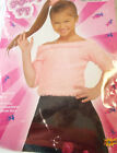 50's Pink Sock Hop Pink Top Child Costume 8-10 12-14 NIP
