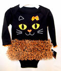 Infant Black Kitty Cat One Piece Tutu 0-3M 3-6M 6-9M NWT