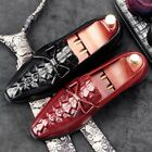 Men Dress Formal lace up tassel real leather pointy toe wedding Shoes CH88 new