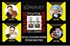 The Super vet -Dr. Noel Fitzpatrick - FRIDGE MAGNET/BADGE/MIRROR  SET OF 4 +
