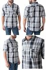 Seven7 Men's Woven Button-Down Shirt Long Sleeve Plaid Black/Charcoal/White NEW