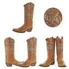 Corky's Poncho Women's Western Cowboy Boots Leather Studded Stitching