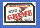 1974  Topps Original  Wacky Packages  7th Series Grime - Dusty  version tan back
