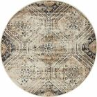 Traditional Vintage Style Persian Rug Design Oriental Faded Beige Carpet Area
