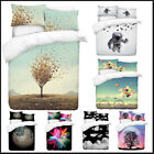 3D Photo Print Nature Theme Digital Duvet Quilt Cover With Pillowcases