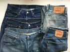 MEN`S LEVI`S 501 JEANS GRADE A VINTAGE STRAIGHT LEG REGULAR FIT AUTHENTIC
