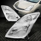 FOR 06-09 TOYOTA PRIUS PAIR CHROME HOUSING CLEAR CORNER HEADLIGHT/HRADLAMP SET