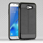 For Samsung Galaxy J7 PERX J727 Leather Texture Hybrid Rubber Silicone Case