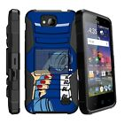For ZTE Majesty Pro, Majesty Pro Plus, Holster Clip Kickstand Case - Vintage