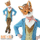 Fantastic Mr Fox Kids Fancy Dress World Book Day Animal Childs Boys Costume New