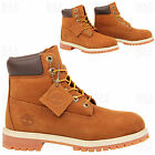 BOYS GIRLS JUNIORS TIMBERLAND 14949 6 INCH WATERPROOF LACE ANKLE BOOTS SIZE