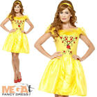Enchanting Beauty Ladies Princess Fairytale Belle Book Day Womens Adults Costume