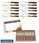 Tramontina Churrasco Premium Wood Steak Knife Knives Fork Set of 12, 2 Colours