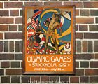 1912 Stockholm Olympic Games Vintage Poster Print [4 sizes, matte+glossy avail]