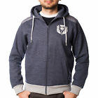 Heritage Of Scotland Men's Full Zip Quilted Zipper Hoodie