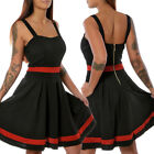 Damen Rockabilly 50er Jahre Kleid Petticoat Partykleid Sommer Tanzkleid Pin Up