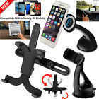 Car Windscreen Dashboard Mount Holder / Back Seat Stand For Mobile iPad Tablets