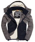 New Mens Superdry Hooded SDWind Hybrid French Navy/Dark Charcoal