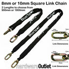 Hardened Security SQUARE LINK CHAIN Bike Motorbike Cycle Moped Scooter ATV 4X4