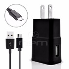 Verizon Kyocera Phones USB 3.1 Amp Wall Charger+Fast Charging Cable BLCK