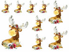 Watercolor Retro Image Woodland Animals Moose Flowers Waterslide Decal AN830