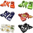 45 Lead-pipe cinch Dinnerware Set Square Banquet Plates Dishes Bowls Kitchen Multi-color