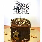 Cake Topper PERSONALISED Various Size & Colour Wording, Number & Names Christmas