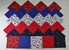 PATRIOTIC STARS IN RED, WHITE, & BLUE GROUPING  4 Inch Quilting Squares