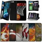 "For Apple iPhone 7 Plus (5.5"") Wallet Case Wrist Strap Slots - Sports & Galaxy"