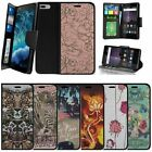 "For Apple iPhone 7 Plus (5.5"") Wallet Case Wrist Strap Slots - Animals & Flowers"
