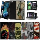 "For Apple iPhone 7 Plus (5.5"") Wallet Case Wrist Strap Slots - Animals & Skulls"