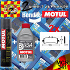 2x BENDIX 341-MCR & DOT 3&4 & P2 BRAKE PADS FLUID CLEAN FITS MOTORCYCLES LISTED