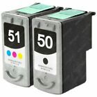 2x Remanufactured PG-50/CL-51 High Capacity Black/Color Ink Cartridges for Canon