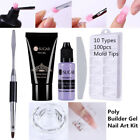 7pcs/set Nail Tips Extension Tool Kit Poly Builder Gel Slip Solution Brush DIY