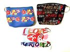 PUERTO RICO BORICUA ZIPPERED COIN WALLET  KEY RING KEY CHAIN PICK YOUR FAVORITE