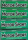 Various Issues of MOTOR SPORT Magazine from January 1986 to December 1987