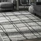 nuLOOM Contemporary  Modern Checkered Area Rug in Light Grey