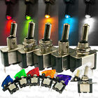 COLOR LED light Clear Missile Style Toggle Flick Switch 12V 20A ON/OFF Car Boat